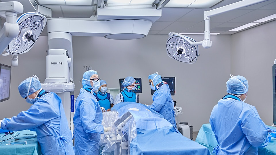 Philips Azurion 7 C20 with Flexarm minimally invasive surgery