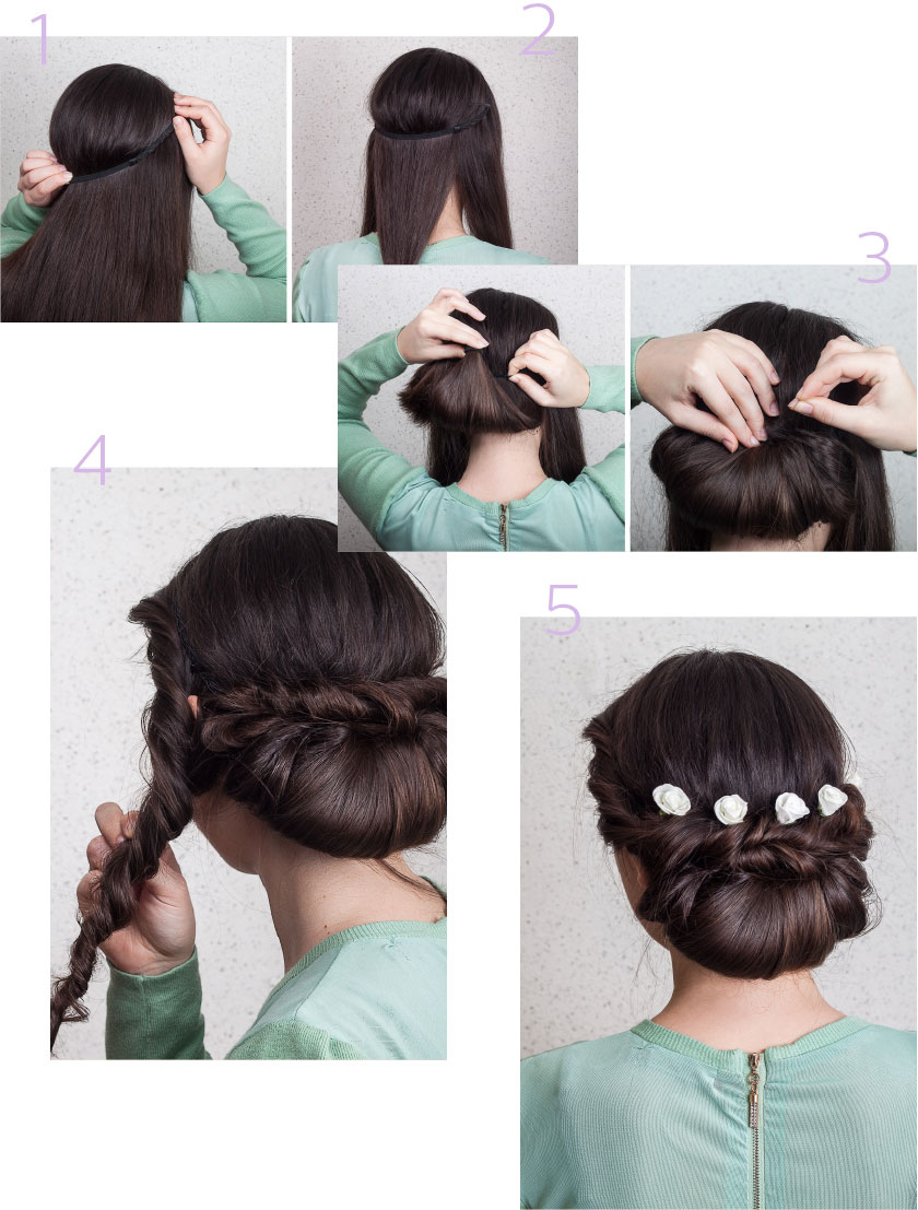 Wedding hairstyle #2: the hairband loop img