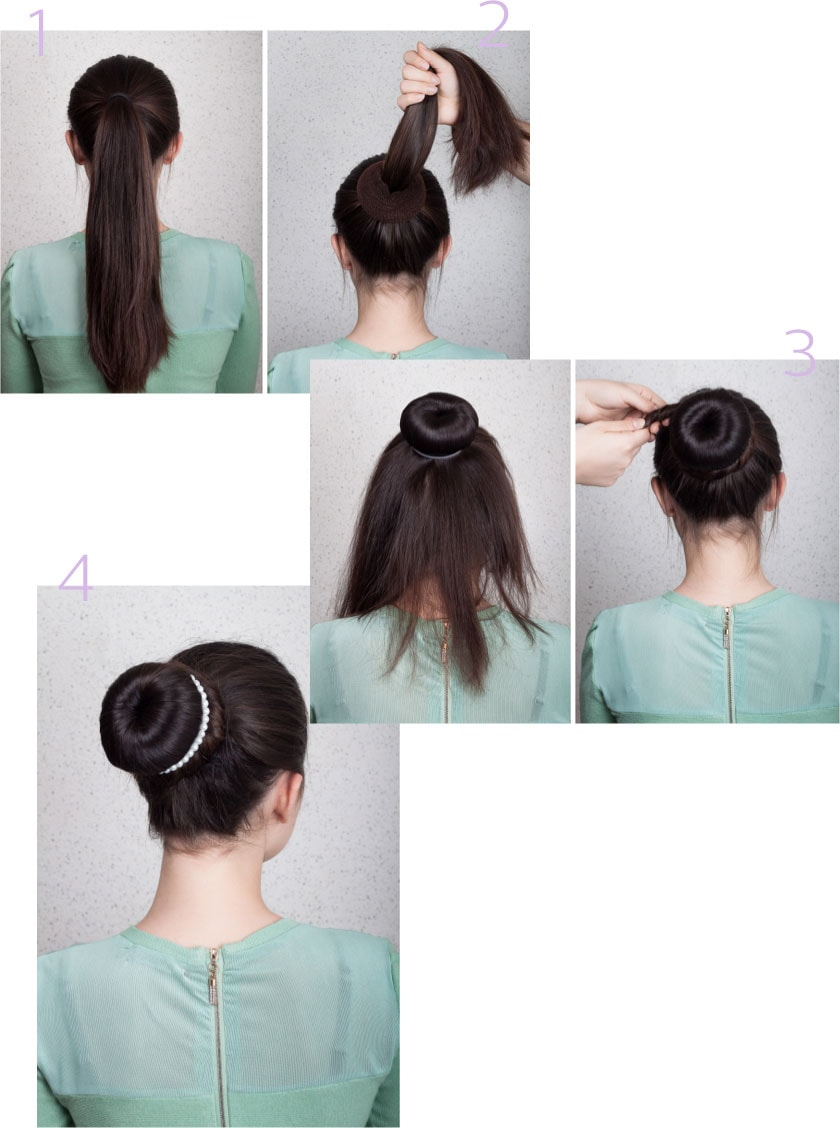 How to do a hair bun img
