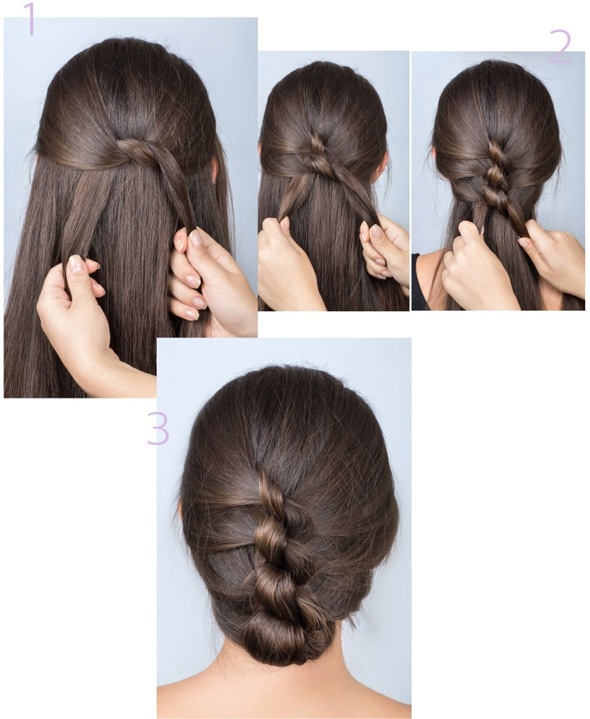 3 curly updo hairstyles   Philips