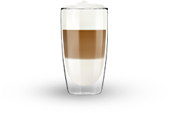 A cup of latte macchiato