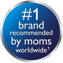 #1 brand recommended by moms worldwide
