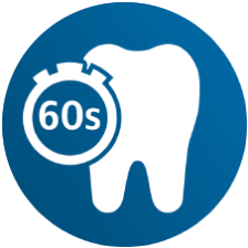 60 second in-mouth cleaning routine icon