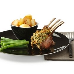 Rack of lamb with a pine nut and herb crust