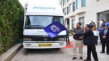 Philips India unveils 'Affordable technological Solutions' on wheels- IntelliSafari in Ahmedabad